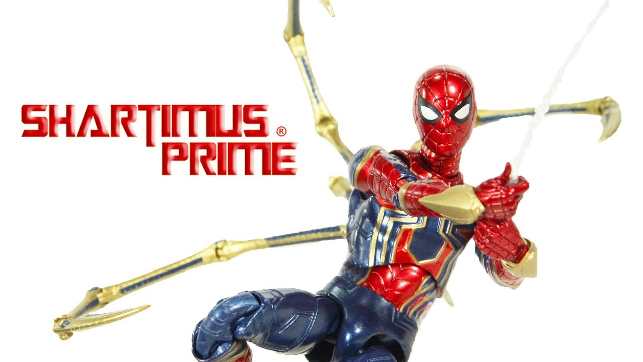 Mafex Iron Spider Avengers Infinity War Medicom Marvel Studios Import Action Figure Toy Review