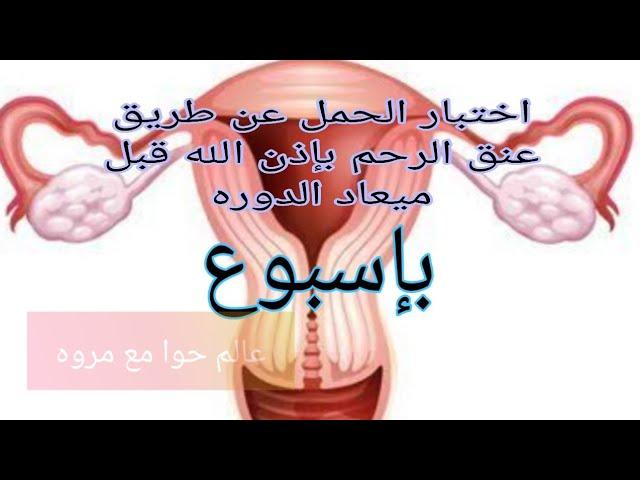 اختبار حمل عن طريق عنق الرحم بإذن الله قبل ميعاد الدوره بإسبوع مضمونه Youtube