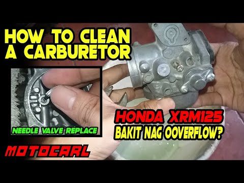 How to clean a carburetor | Honda XRM125