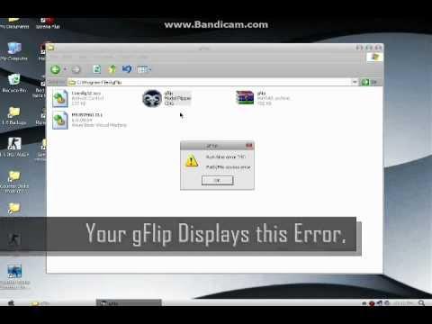 How to fix gFlip Run-time error 75