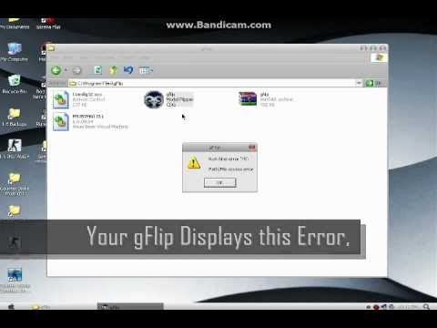 How to fix gFlip Run-time error 75
