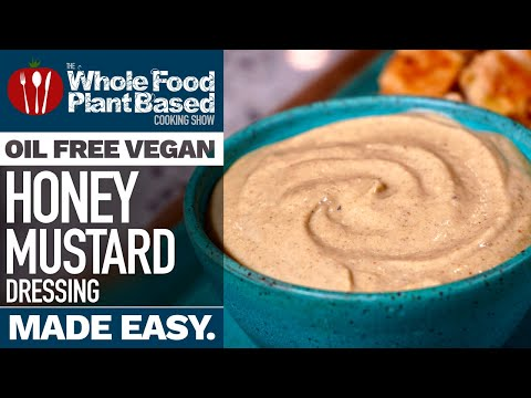 OIL FREE VEGAN HONEY MUSTARD DRESSING » this dressing will blow your mind!