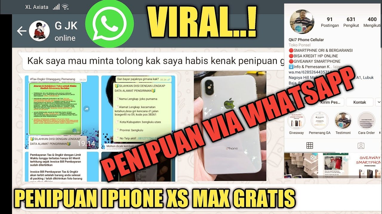Iphone Xsmax Tertipu Via Whatsapp Korban Giveaway Instagram