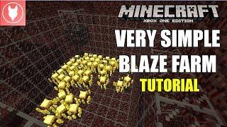 Minecraft Xbox One - Simple Blaze Farm Tutorial (Xbox/ PS4/ PS3/ Wii U/ Switch)