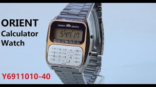 VintageDigitalWatches - Ep 32 -  Orient calculator watch Y6911010-40 review