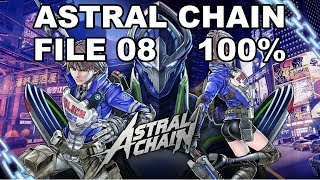 [Astral Chain] File 08 - 100%  (Cases, Items, Photo Order, Toilet, Cat)