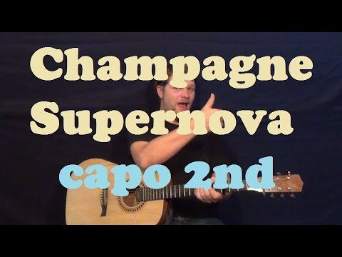 Champagne Supernova (Oasis) Easy Guitar Lesson Strum Chords How to ...