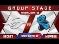 Secret vs Newbee EPICENTER XL Major 2018 Highlights Dota 2