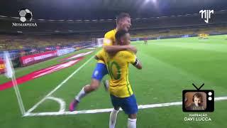 50º gol de Neymar Jr. pela  Seleção Brasileira com a Narração de Davi Lucca - Neymarpedia