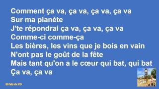 Claudio Capeo - ça va ça va (paroles)