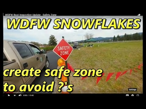 WDFW Boat Inspection Update - Safety Zone Is Set Up
