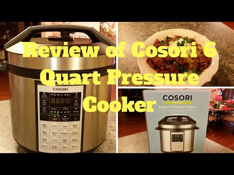 Review Of Cosori 6 Quart Pressure Cooker And Red Beans And Rice