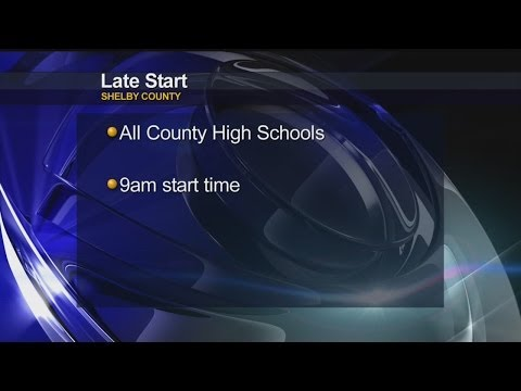 Shelby Co High Schools starting late on Wednesday