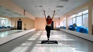 Степ аэробика с раскладкой   Step aerobic   Step dance