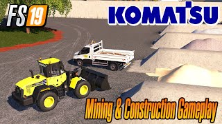 New Loader At My Constuction Site Mining & Construction Economy Map Farming Simulator 2019 Mods