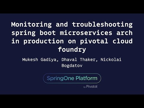Monitoring and Troubleshooting Spring Boot Microservices Architecture - Bogdatov, Gadiya, Thaker