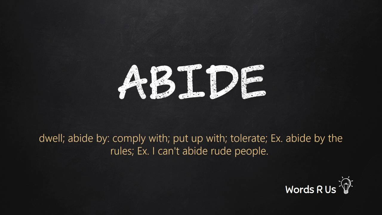 How to pronounce Abide correctly in American English