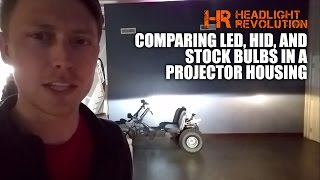 Why LED Bulbs Don't Work Well in Projector Headlights - HID is Better!