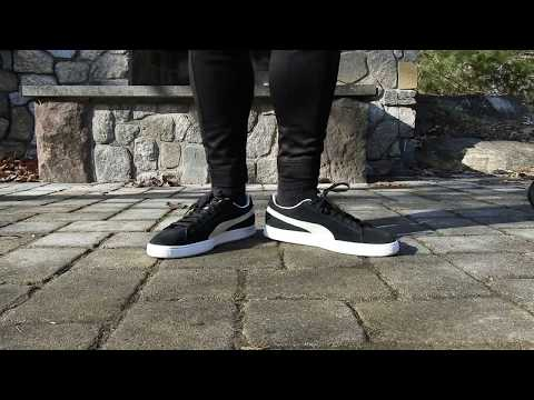 BLACK & WHITE PUMA SUEDE CLASSIC ON FEET REVIEW!
