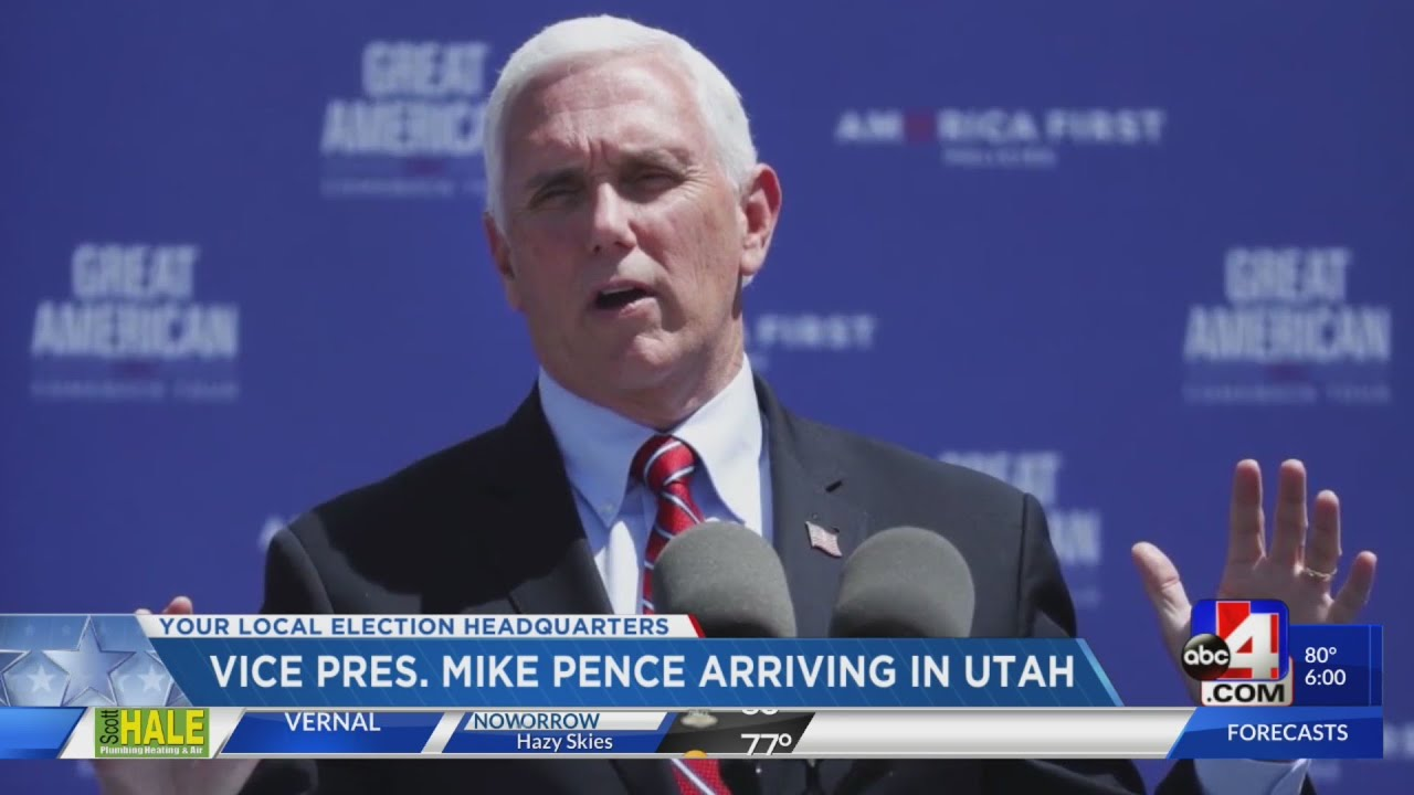 Vice President Mike Pence lands in Salt Lake City-Nick McGurk 6 p.m.