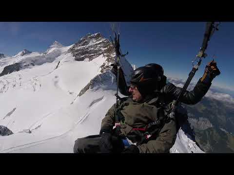 Paragliding From The Jungfraujoch September 2017 - Part 1