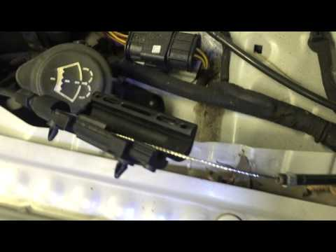 bmw e65 745 750 emergency hood cable open release youtube. Black Bedroom Furniture Sets. Home Design Ideas