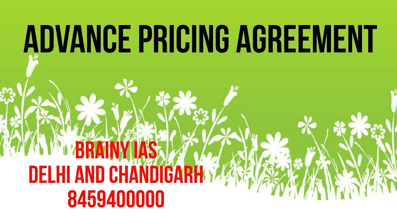 Advance Pricing Agreement Youtube