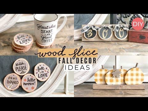 Wood Slice DIY Ideas   Fall Inspired   Ashleigh Lauren