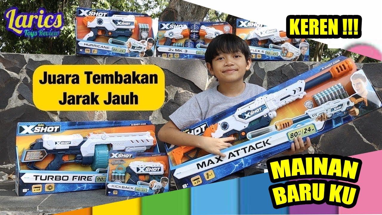 Larics & Mainan XSHOT Juara Tembakan Jarak Jauh dari Toys Pedia 😱😱😱