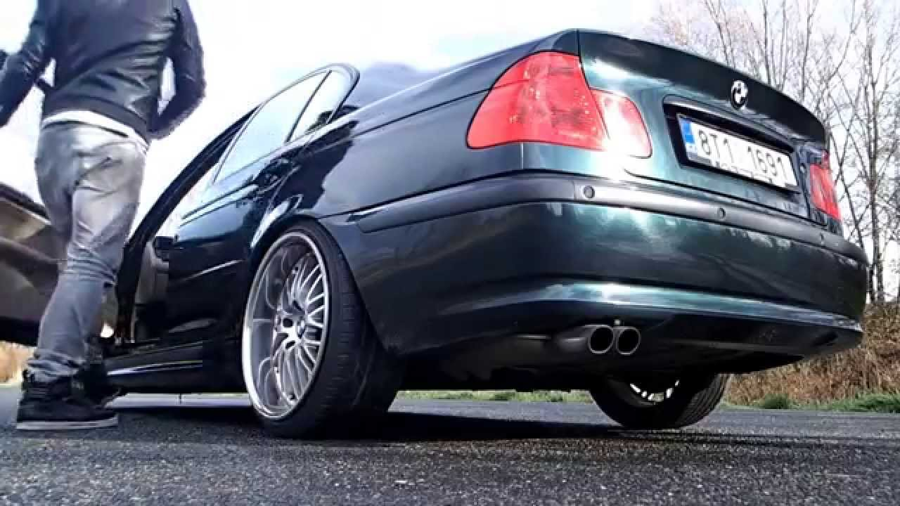 Bmw E46 330i Static Slammed On 19 Wheels Oxford Green Youtube