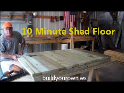 10 Minuite Shed Floor Youtube