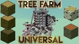 Minecraft: AFK Universal Tree Farm - Up to 13.200l/h