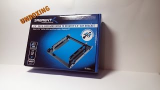 Sabrent 3.5-Inch to x2 SSD / 2.5-Inch Internal Hard Drive Mounting Kit- UNBOXING