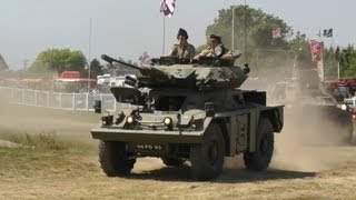 "Ferret, Humber Pig, Fox, Jeep ""Henry"", Panhard Armoured Car in Arena"
