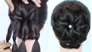 new juda hairstyle for party, function and weddings | juda hairstyle trick | wedding guest hairstyle