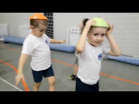 Дети 4-5 лет, подвижные игры,развивающие упражнения!