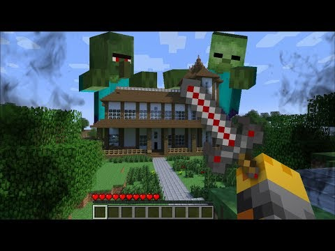 GIANT ZOMBIE APPEARS IN MY MINECRAFT HOUSE !! Minecraft Mods