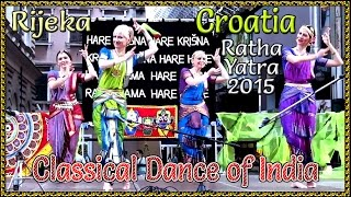 BHARATA NATIYAM AT RIJEKA, CROATIA DURING RATHA YATRA 6TH JUNE, 2015