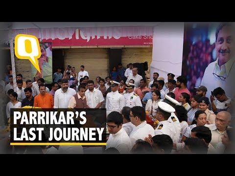 Manohar Parrikar's Funeral: Thousands Join Him on His Last Journey