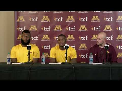Gopher Blog - VIDEO: Morgan, Bateman and more - Players post game press conference