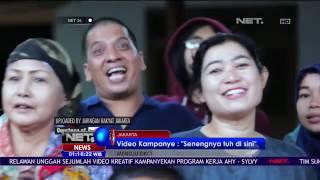 video kampanye kreatif agus yudhoyono berjudul senangnya tuh di sini net24