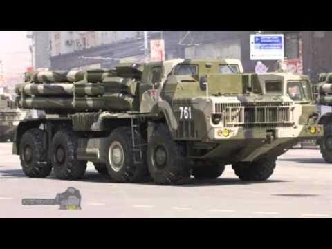 РСЗО 9К58 Смерч тяжелая военная техника России, современный фото музей 2015
