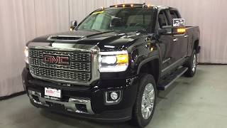 2018 GMC Sierra 2500HD 4WD Denali 5th Wheel Gooseneck Prep Black Oshawa ON Stock #180382