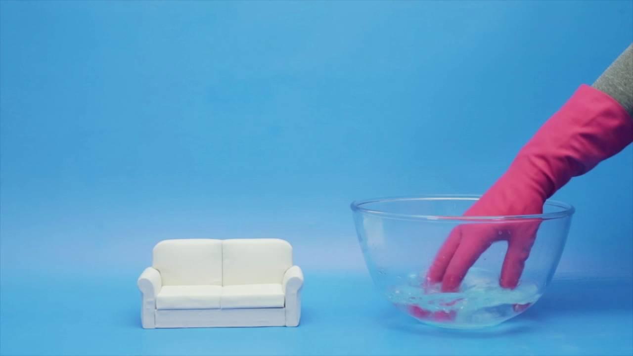een stoffen bank schoonmaken - youtube