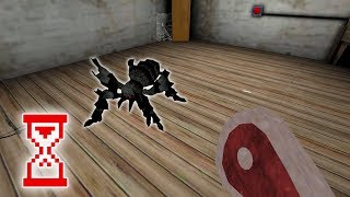 Granny 1.5 Пробую закрыть клетку паука во время кормления