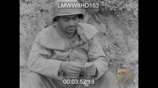 INFANTRY IN NORMANDY, US INFANTRY MEN MOVE UP TOWARD FRONT LINE; OTHERS WAIT TO BE REL - LMWWIIHD153