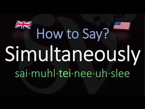 How To Pronounce Simultaneously British Vs American English Pronunciation Youtube