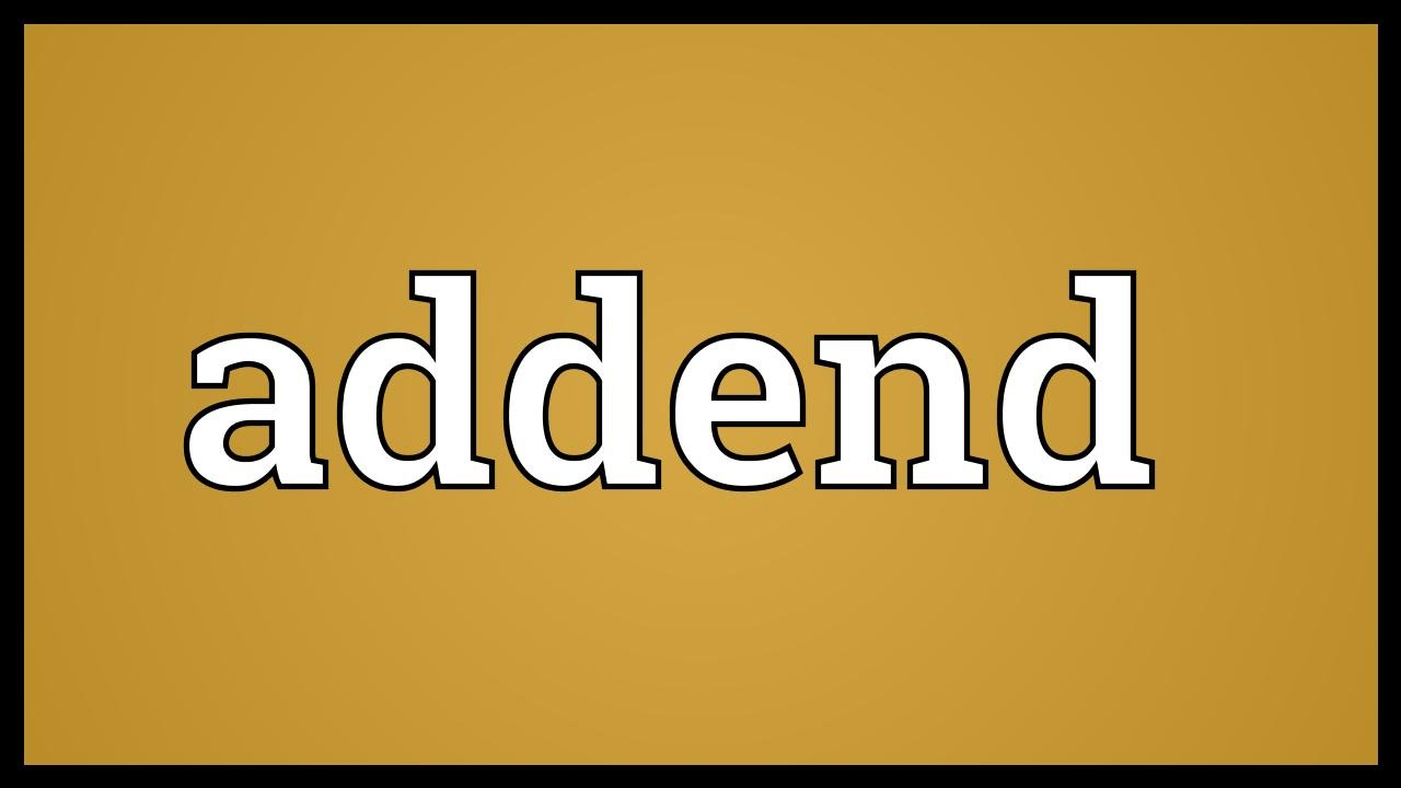worksheet Addend addend meaning youtube meaning