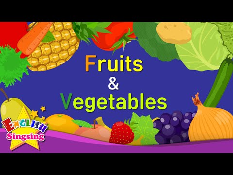 Kids vocabulary - Fruits & Vegetables - Learn English for kids - English educational video