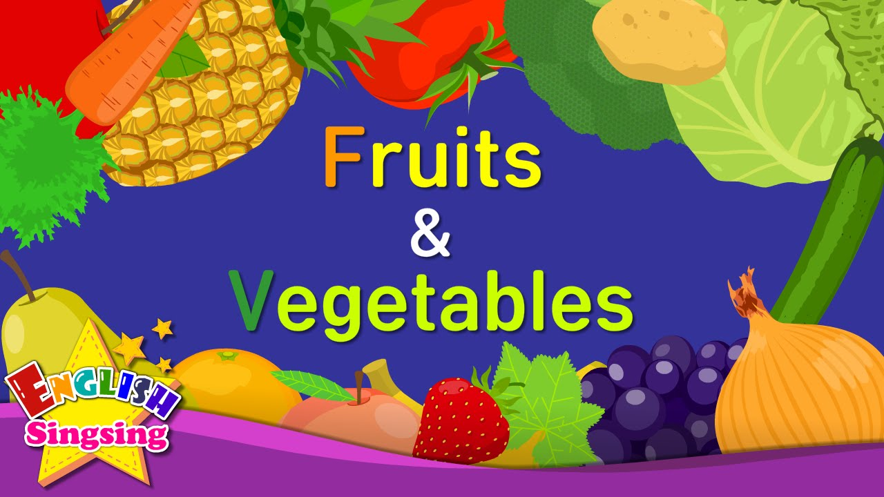 kids vocabulary fruits vegetables 1 learn english for kids